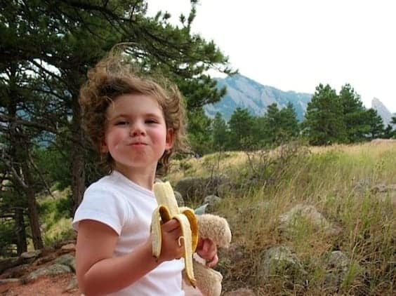 hiking kids boulder