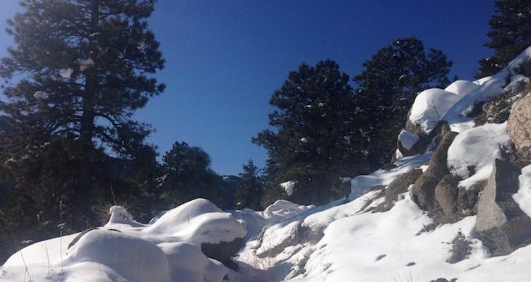 boulder hiking winter