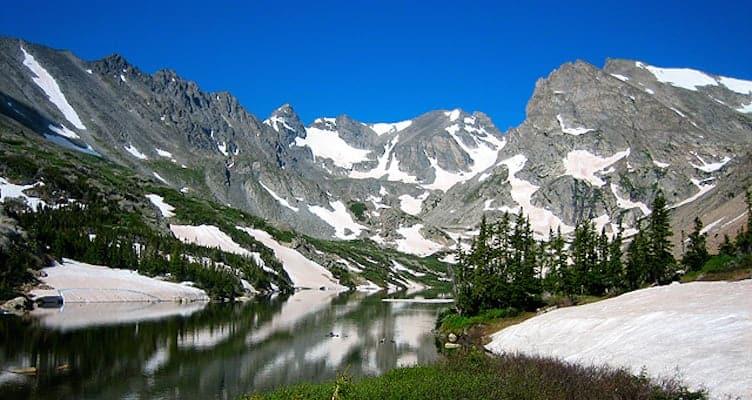 Lake Isabelle hike boulder